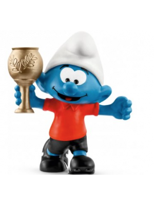 Schleich 20807 Schtroumpf de football avec trophée