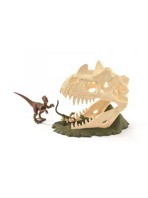 Schleich 42348 Dinosaure Grand piège crâne avec Vélociraptor