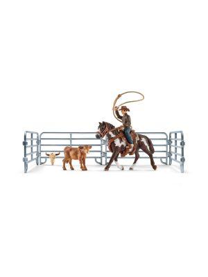 Schleich 41418 Capture Au Lasso avec un Cowboy