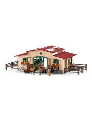 Schleich 42195 Écurie avec chevaux et accessoires