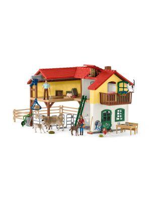 Schleich 42407 Farm World Ferme avec étable et animaux