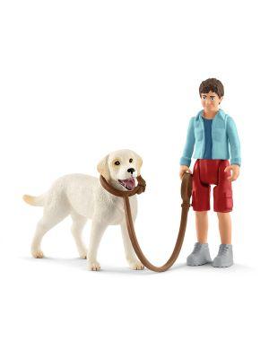 Schleich Farmworld 42478 Marcher avec labrador