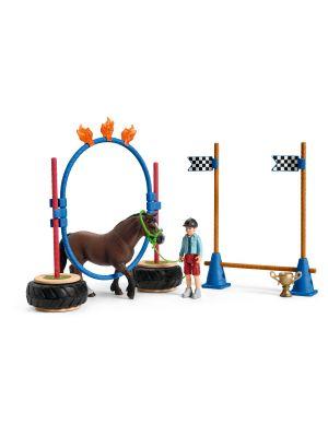Schleich Farm World 42482 concours d'agilité de poney