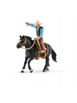 Schleich 41416 Selle Western avec un Cowboy
