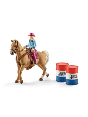 Schleich 41417 Barrel Racing avec une Cowgirl