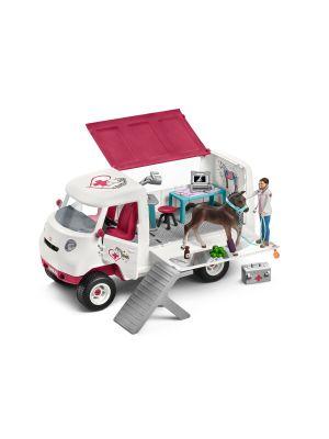 Schleich 42370 Vétérinaire mobile avec poulain hanovrien