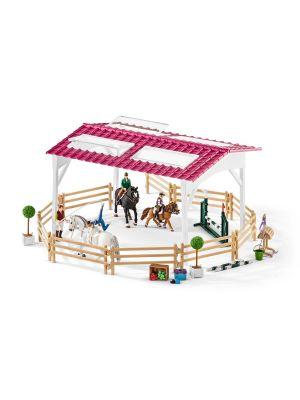 Schleich 42389 École d'équitation avec cavalière et chevaux