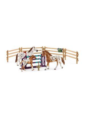 Schleich 42433 ensemble de formation de tournoi et cheval d'appaloosa