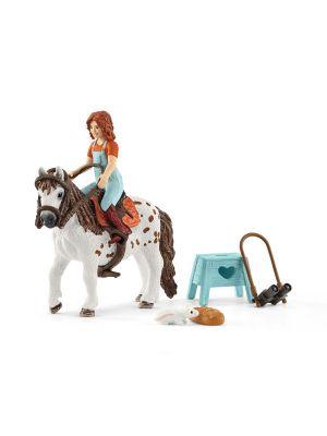Schleich 42518 Petite soeur et shetland pony jument