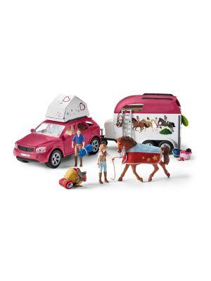 Schleich Horse Club Avontuur met Auto en Trailer 42535