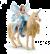 Schleich Bayala 42508 Eyelas sur licorne doree