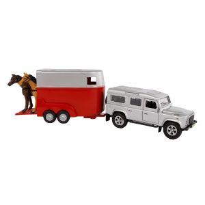 Kids Globe Mitsubishi avec remorque pour chevaux moulé rose 27cm 520124
