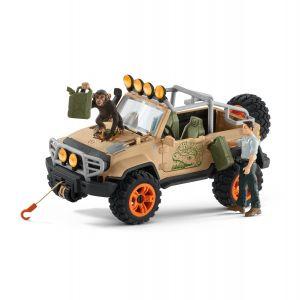 Schleich Wild Life 42410 Vehicule tout-terrain avec treuil