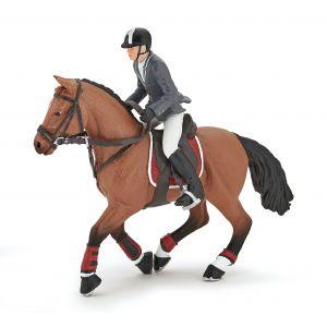 Papo Horses Dressuur Paard met Ruiter Jongen 51561