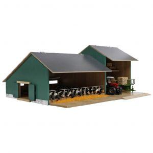 Kids Globe Stal met Landbouwloods Hout Bruin 1:32 610200