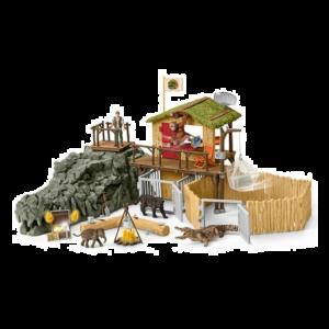 Schleich 42350 Station de recherche croco dans la jungle