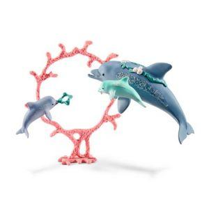 Schleich 41463 Bayala Maman des dauphins avec des bébés