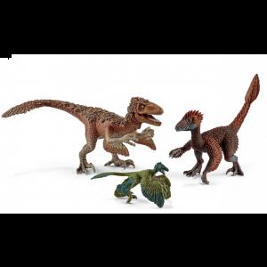 Schleich 42347 Dinosaure Raptors à plumes