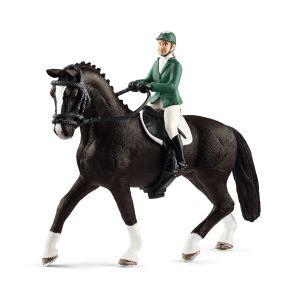 Schleich 42358 Cavalière de saut d'obstacles avec cheval